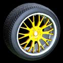 Sunburst wheel icon orange