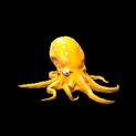 Octopus topper icon orange