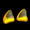Wildcat ears topper icon orange