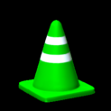 Traffic cone topper icon forest green