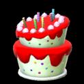 Birthday cake topper icon crimson