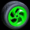 Vortex wheel icon forest green