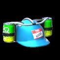 Drink helmet topper icon sky blue