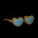 Heart glasses topper icon burnt sienna