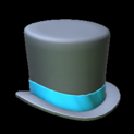 Top hat topper icon sky blue
