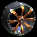 Picket wheel icon orange