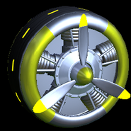Propeller wheel icon saffron