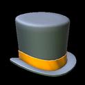 Top hat topper icon orange