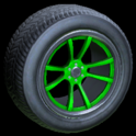 OEM wheel icon forest green