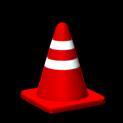 Traffic cone topper icon crimson