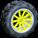Almas wheel icon saffron