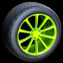 Dieci wheel icon lime