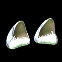 Wildcat ears topper icon titanium white