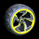 Chakram wheel icon saffron