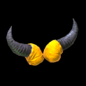 Devil horns topper icon orange