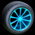 Dieci wheel icon sky blue