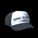 Trucker hat topper icon black