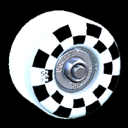 Sk8ter wheel icon titanium white