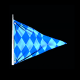 Blue Chequered Flag antenna icon