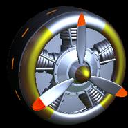Propeller wheel icon burnt sienna