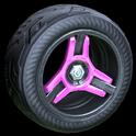 Invader wheel icon pink