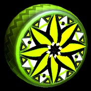 Mandala wheel icon lime