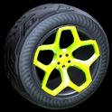 Spyder wheel icon lime