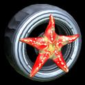 Asterias wheel icon crimson