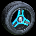 Invader wheel icon sky blue