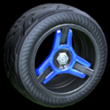 Invader wheel icon cobalt