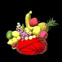 Fruit hat topper icon crimson