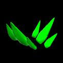 Stegosaur topper icon forest green