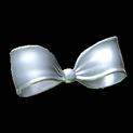 Little bow topper icon titanium white