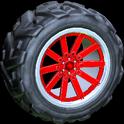 Almas wheel icon crimson