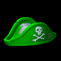 Pirates hat topper icon forest green