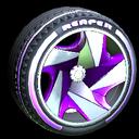 Reaper wheel icon purple