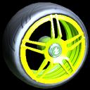 Gaiden wheel icon lime