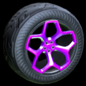 Spyder wheel icon purple
