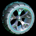 Wrench-Roller wheel icon sky blue