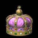 Royal crown topper icon pink