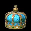 Royal crown topper icon sky blue