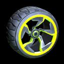 Chakram wheel icon lime
