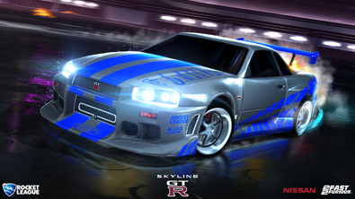 Fast & Furious Nissan Skyline hero art