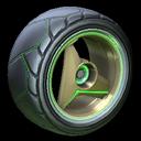 Troika wheel icon forest green