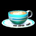 Latte topper icon sky blue
