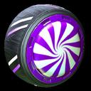Peppermint wheel icon purple