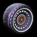 Spiralis wheel icon pink
