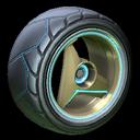 Troika wheel icon sky blue