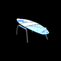 Surfboard topper icon cobalt