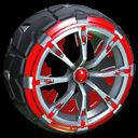 Truncheon wheel icon crimson